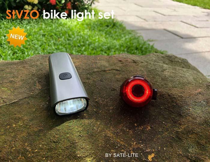 新型的USB可充电自行车灯套装